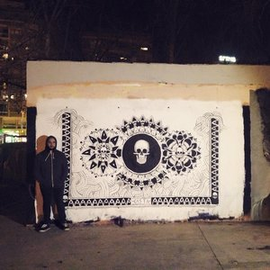 Mural en la plaza de Paralel, Brcelona