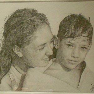 Retrato madre e hijo