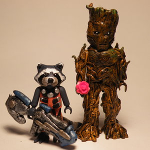 Playmobil customizado Rocket y Groot Guardianes de la galaxia