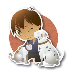 Niño y mascotas