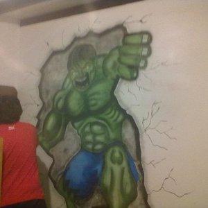 Hulk con aerografo
