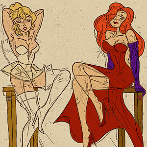 Holli Would & Jessica Rabbit