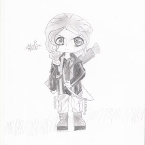 Katniss Everdeen chibi (Hunger Games)