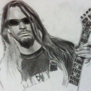 Jeff Hanneman a lápiz, en proceso
