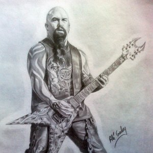 Dibujo de Kerry King, guitarrista de Slayer
