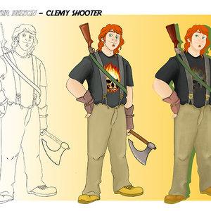 Diseño de personaje - Clemy Shooter