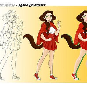 Diseño de personaje- Mara Lovecraft