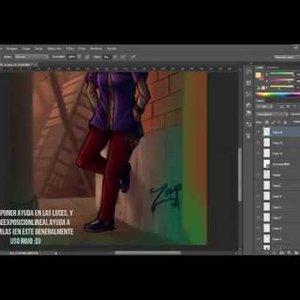 speed paint  - Tutorial de ilustración en Photoshop