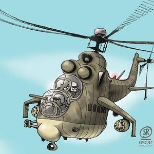 un helicóptero...