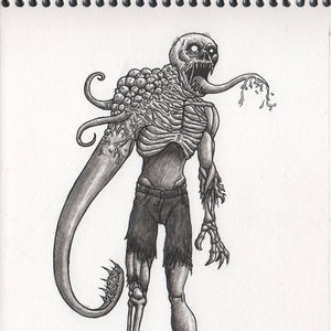Inktober Zombie Mutante