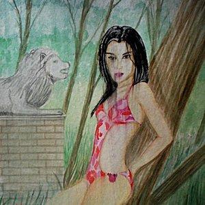 Modelo en la selva.