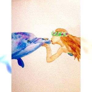 Un beso marino.