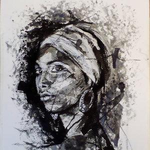 retrato tinta