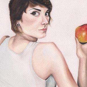 La chica de la manzana