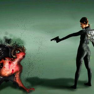Angel kills the demon