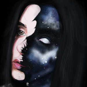 Space side - Girl Digital portrait