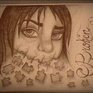Broken tears.