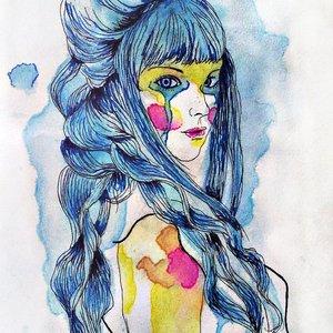 Mujer en azul