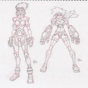 Diseño de personajes (Chicas Guerreras)