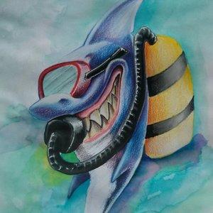 Snorkeling shark....