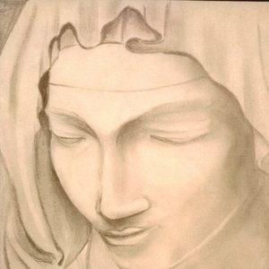 La piedad - Head of the Madonna-Miguel Ángel