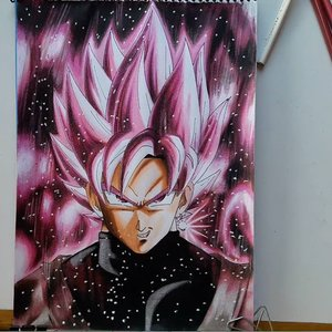 Como dibujar a Goku black
