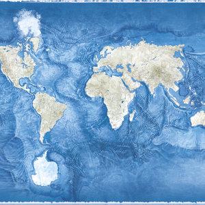 Seafloor topographic map