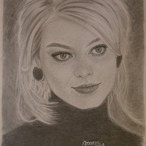 Retrato Margot Robbie