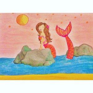 Sirena en el atardecer