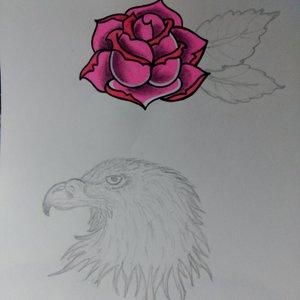 bocetos para tattoos (aun por terminar ambos)