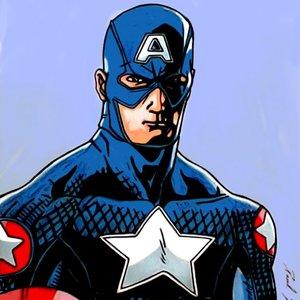 dibujo fan art capitan america