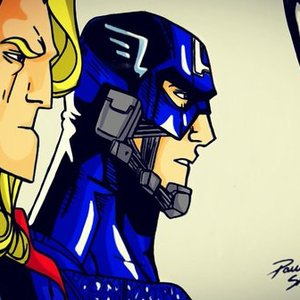 dibujo fan art civil war