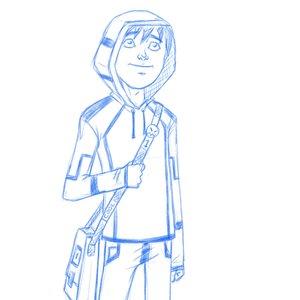 sketch personaje
