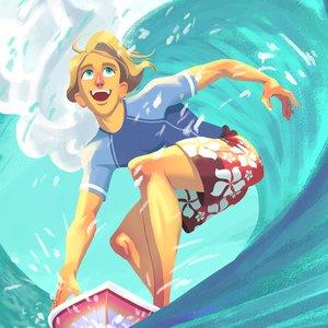 Disfrutando de la ola