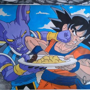 Bills y Goku Dragon ball