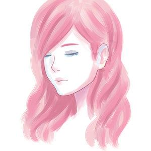 Watercolor Pink Hair