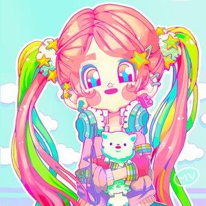 Picky the rainbow girl