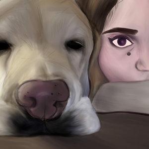 El perro y la chica