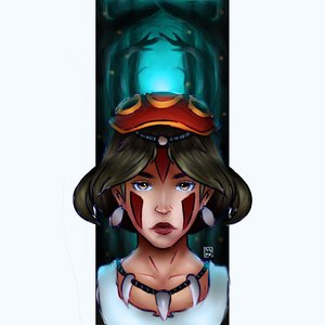 fan art (Princesa Mononoke)