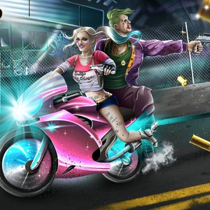 Fan art Joker y Harley Quinn