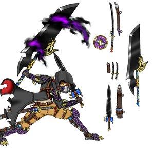 FFBE Concurso de diseño de unidades - Siekon, espadachin oscuro