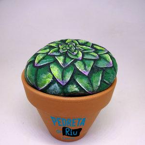 piedras pintadas con cactus 2