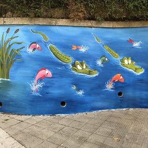 Mural en colegio