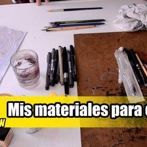 MATERIALES DE DIBUJO | Mis materiales para cómic e ilustracion a tinta