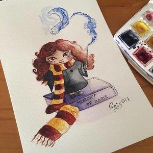 Acuarela de Hermione