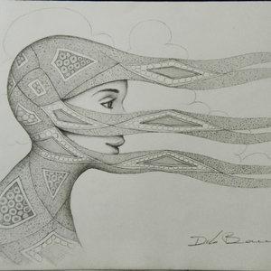 Dibujo sobre papel en Grafito