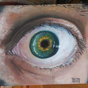 Macro eye - Oil painting