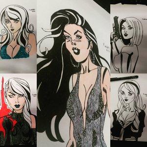 mujeres de algunas historietas de marvel