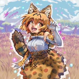 Kemono Friends - Serval-chan Redrawing