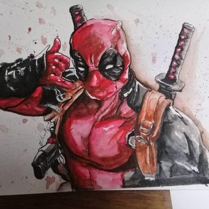 Deadpool Acuarela / Deadpool Watercolor